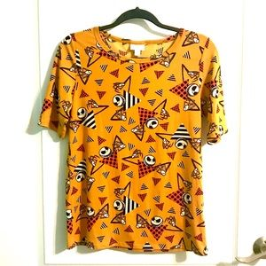 LuLaRoe Jack Skellington Pattern Shirt Top Size M